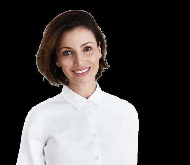 Dr. Irina Logman in transparent background