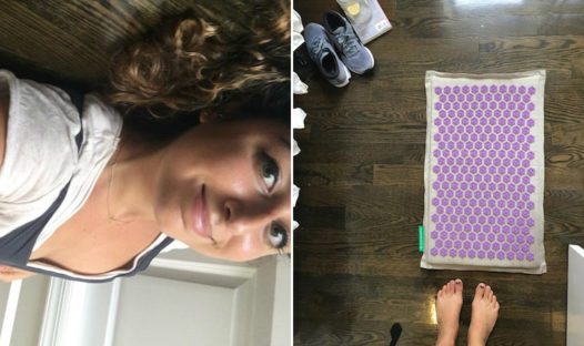 acupressure mat experiment back pain