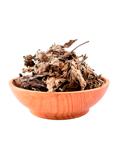 moxa in a brown bowl